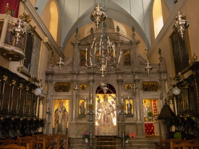 Orthodox church interior, Corfu, Greece