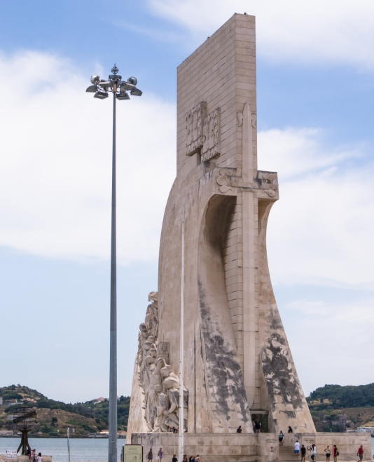 Padrão dos Descobrimentos (Monument to the Discoveries), Belém neighborhood on Rio Tejo, Lisboa, Portugal