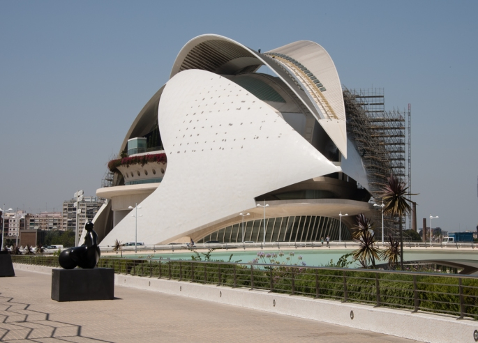 Palau de les Arts Reina Sofía (Queen Sofia Palace of the Arts) -- the opera house and cultural center at the City of Arts and Sciences, Valencia, Spain