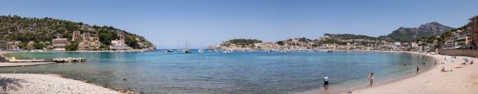 Panorama of Port de Sóller, Mallorca, Spain
