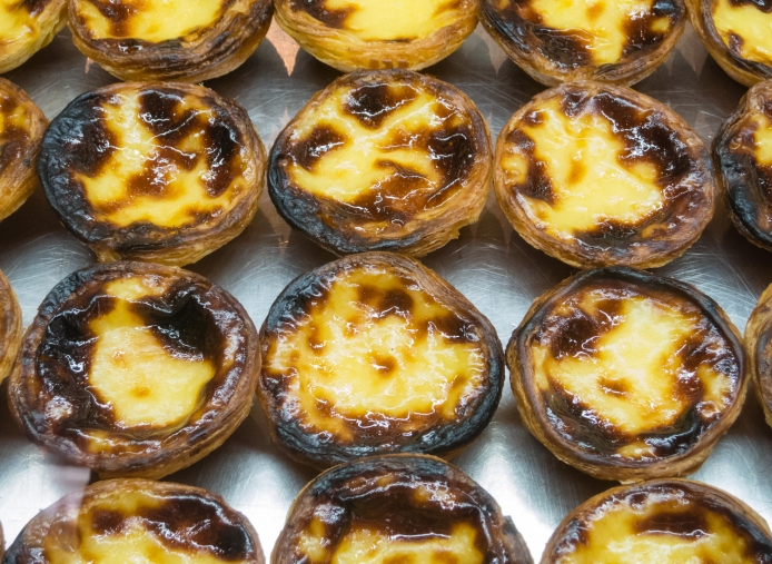Pastel de Nata (a local baked custard specialty), Lisboa, Portugal