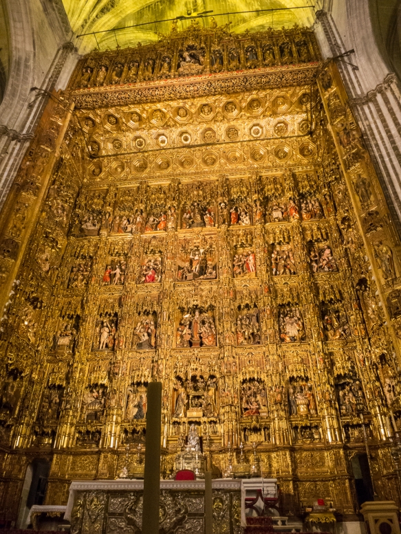 Pierre Dancart's masterpiece retablo (altarpiece) in Catedral de Santa María de la Sede (Cathedral of Saint Mary of the See), better known as Seville Cathedral, Sevilla, Spain