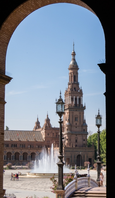 Plaza de España (Spain Square), located in the Parque de María Luisa (Maria Luisa Park), Sevilla, Spain