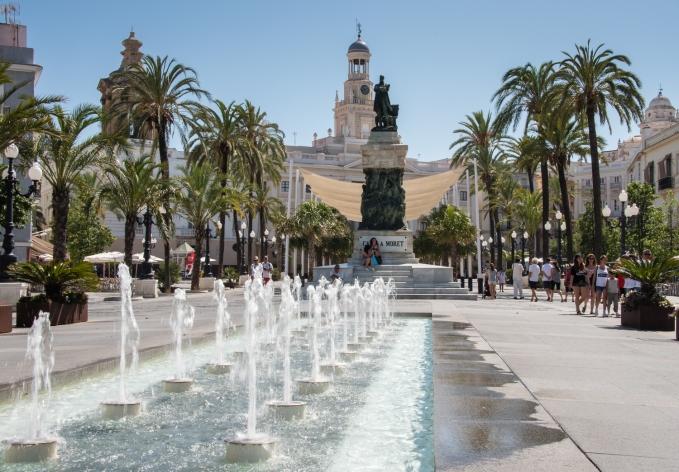 Plaza de San Juan de Dios in Casco Antiguo (Old Town), Cadiz, Spain