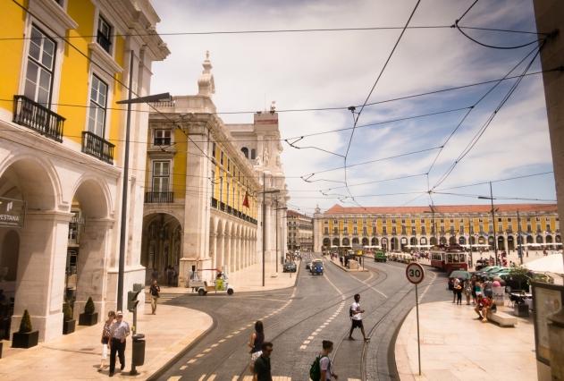 Praça do Comércio y Ministerios, Lisboa, Portugal