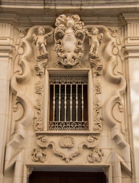 Residential portal decoration in Casco Antiguo (Old Town), Cadiz, Spain
