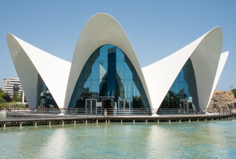 Restaurant Submarino L'Oceanografic (Submarine Restaurant at the Oceanographic Park), City of Arts and Sciences, Valencia, Spain