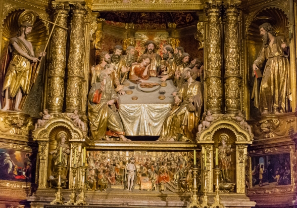 "Side chapel with the ""Last Supper"" in The Cathedral Palma de Mallorca, Palma de Mallorca, Mallorca, Spain"