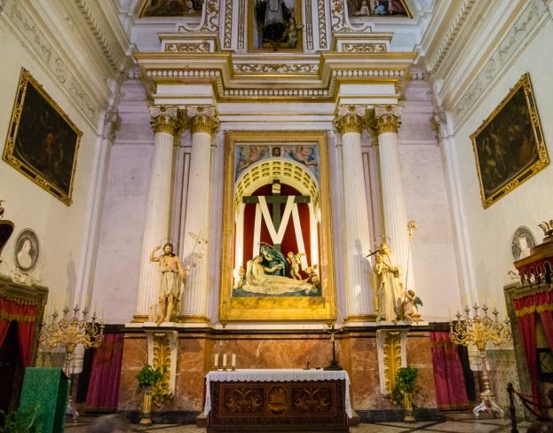The main church of Real Cartuja de Valldemossa (the Royal Carthusian Monastery), Valldemossa, Mallorca, Spain