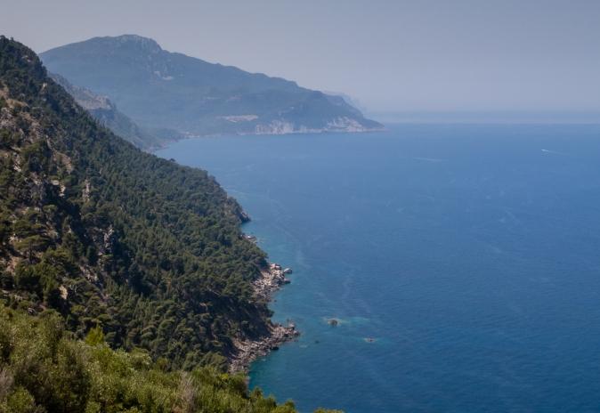 West coast of the island, south of Port de Sóller, Mallorca, Spain