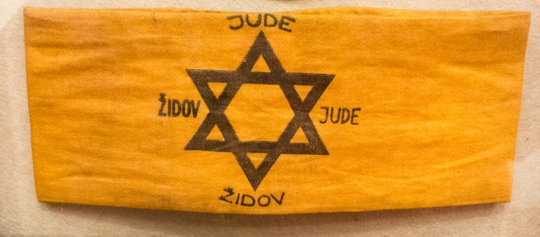 Zuta traka i znacka (yellow ribbon and badge) 1941, Synagogue Museum, Dubovnik, Croatia