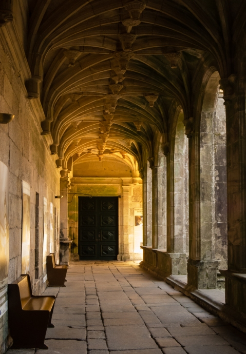 16th century cloisters at the Church of St. Goncalo, Amarante, Minho region, Portugal