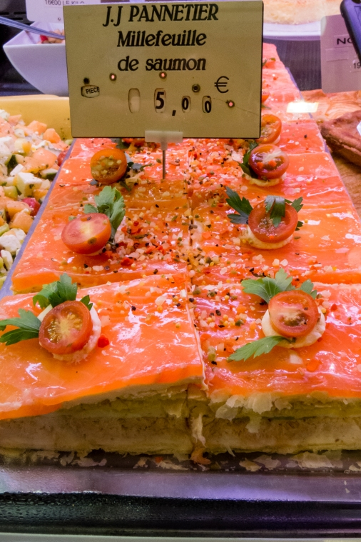 Millefeuille de Saumon at Marché Aux Halles (Central Market), La Rochelle, France