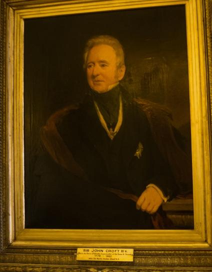 Portrait of Sir John Croft BT., Baron da Serra d'Estrella, Commander of the Tower & Sword, 1778 - 1862, at Feitoria Inglesa (the Factory House), Porto, Portugal