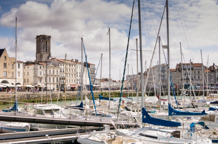 Quai Duperre -- the center of the Vieux Port (the Old Port neighborhood) in La Rochelle, France