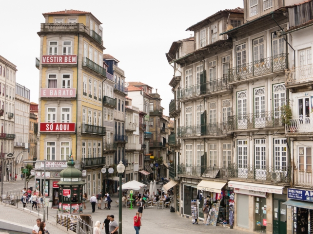Residential neighborhood in the heart of the city, Porto, Portugal