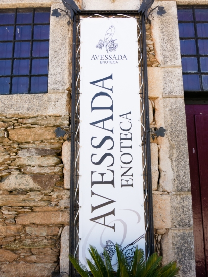 Sign for the interactive wine museum at Quinta da Avessada, Favaios, Douro Valley, Portugal