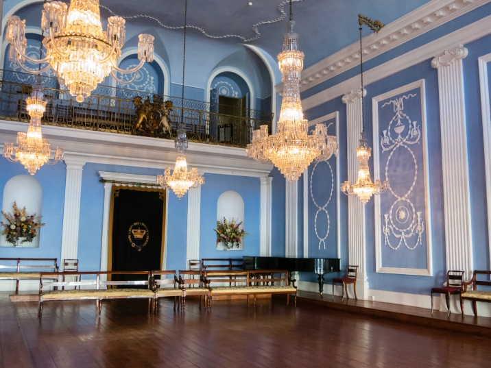 The ballroom of Feitoria Inglesa (the Factory House, a.k.a. the British Association Factory House), Porto, Portugal
