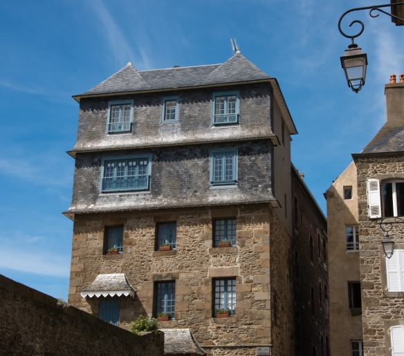 A beautiful home that was one of only 182 buildings to survive the 1944 Allied fire bombing of La Ville Intra-Muros (Walled City), Saint-Malo, France