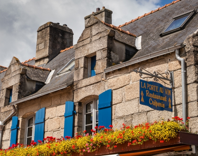 La Porte au Vin Restaurant Creperie in Ville Close (Walled City), Concarneau, France