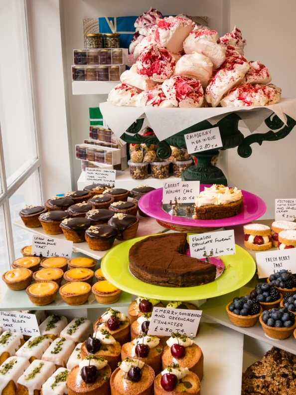 Pastry selection at Ottolenghi's Deli, London, England