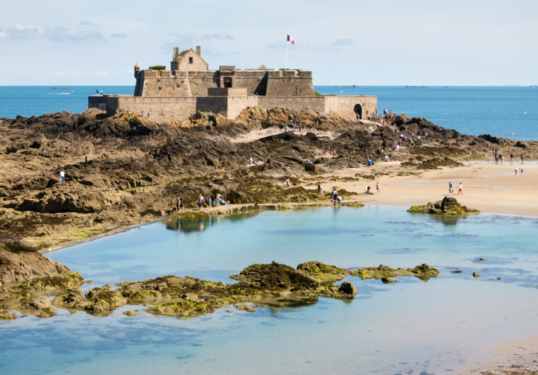 View from our circumambulation of the rampart walls of Fort National from Chateau de la Duchesse Anne, Saint-Malo, France