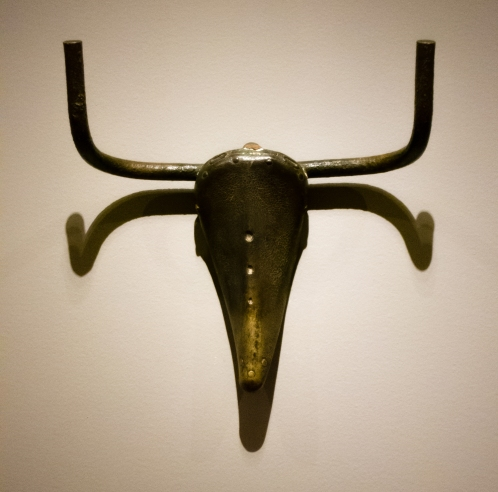 """Bull's Head"". Paris, 1942.  Bronze.  Private colleciton.  In ""Picasso Sculpture"", MOMA, New York, NY, USA"