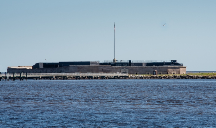 Fort Sumter (partially rebuilt after the Civil War) in Charleston Harbor, Charleston, South Carolina, USA
