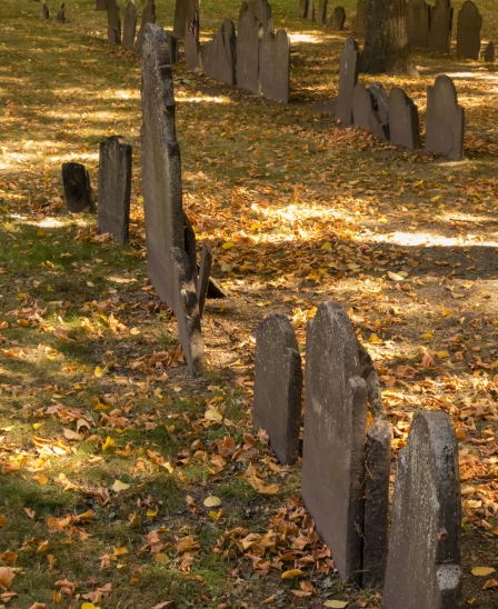 Granary Burying Ground, on The Freedom Trail, Boston, Massachusetts, USA