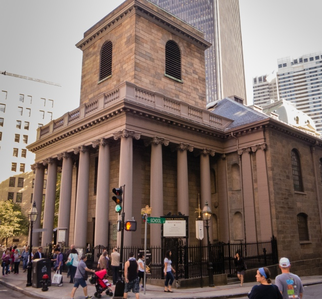 King's Chapel, on The Freedom Trail, Boston, Massachusetts, USA