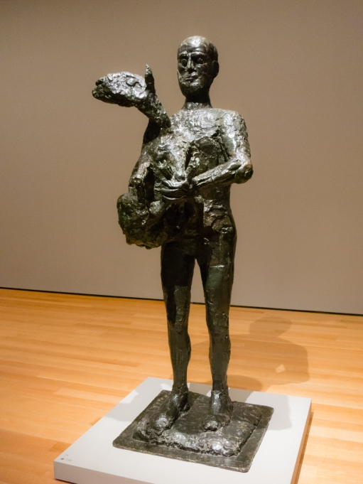 """Man with a Lamb"". Paris, 1943.  Bronze.  Philadelphia Museum of Art.  Gift of R. Sturgis and Marion B. F. Ingersoll.  In ""Picasso Sculpture"", MOMA, New York, NY, USA"