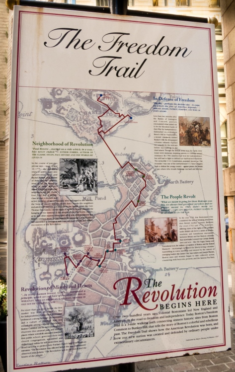 Map of The Freedom Trail, Boston, Massachusetts, USA
