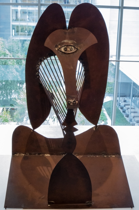 """Maquette for Richard J. Daley Center Sculpture"". 1964.  Simulated and oxidized welded steel.  The Art Institute of Chicago.  Gift of Pablo Picasso.  In ""Picasso Sculpture"", MOMA, New York, NY, USA"