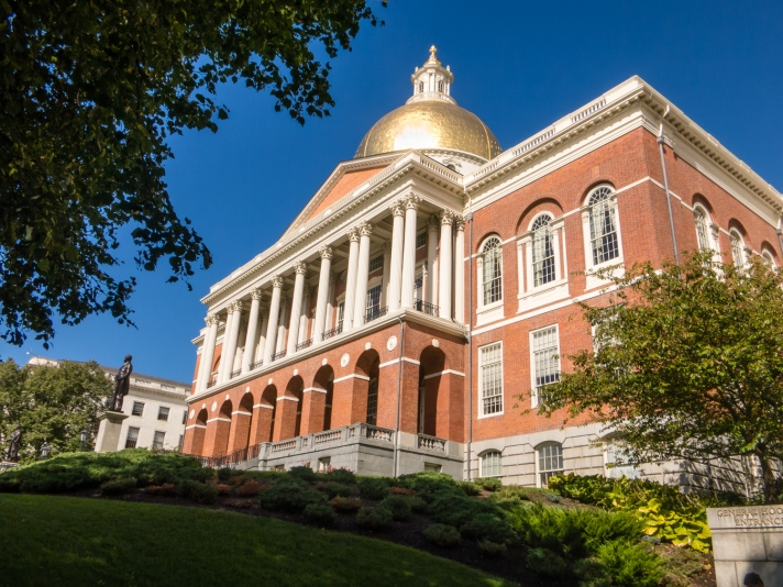 Massachusetts State House, on The Freedom Trail, Boston, Massachusetts, USA