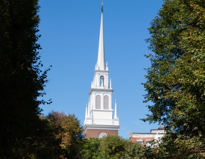 Old North Church, the oldest church building in Boston, Massachusetts, USA