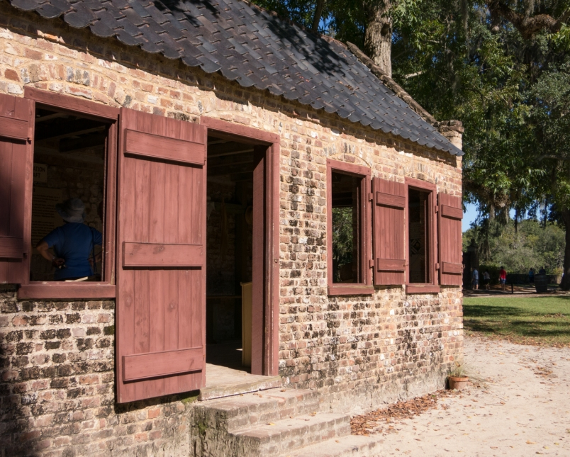 One of many slave cabins remaining at Boone Hall Plantation, Charleston, South Carolina, USA