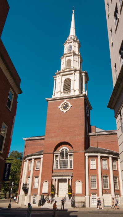 Park Street Church, on The Freedom Trail, Boston, Massachusetts, USA