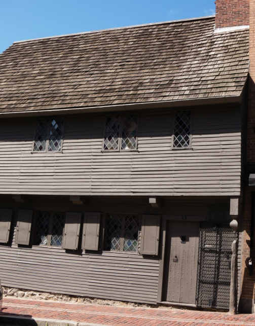 Paul Revere House (circa 1680), the oldest remaining structure in downtown Boston, Massachusetts, USA