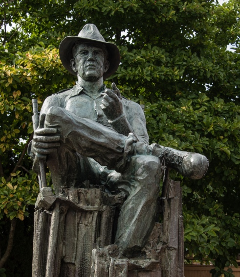Statue of John Ford, Portland native son and Academy Award winning movie producer (1894-1973), Portland, Maine, USA