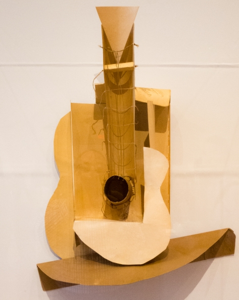 """Still life with Guitar"". Variant state.  Paris, 1913.  Paperboard, paper, thread  string, twine, and coated wire. The Museum of Modern Art, New York. Gift of the artist.  In ""Picasso Sculpture"", MOMA, New York, NY, USA"