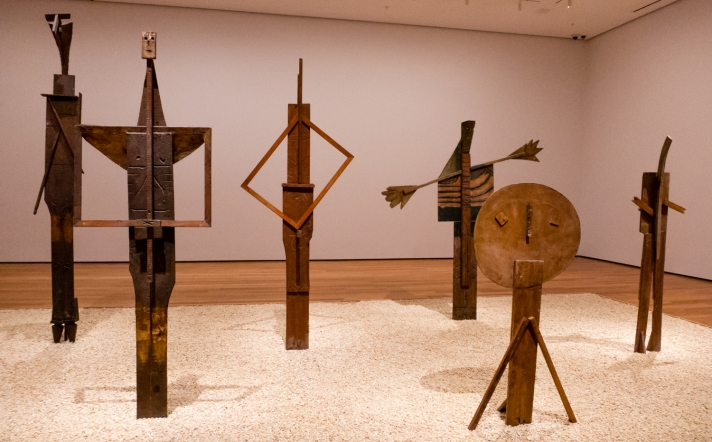 """The Bathers..."". Vallauris, 1956.  Wood.  Staatsgalerie, Stuttgart.  In ""Picasso Sculpture"", MOMA, New York, NY, USA"