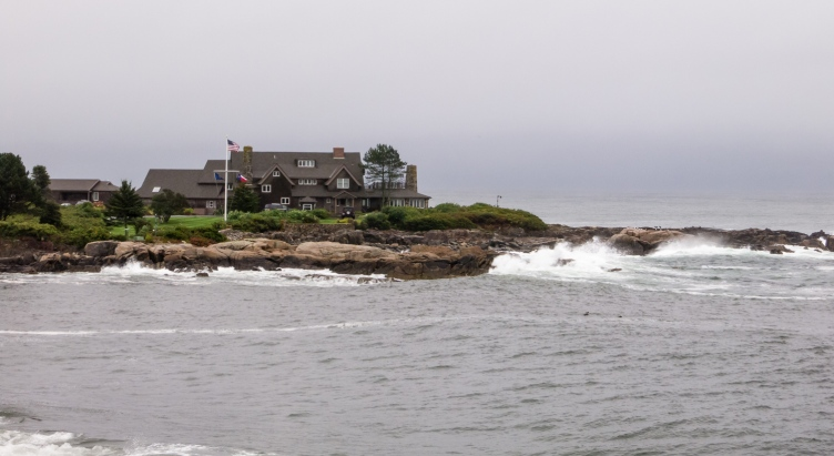 """The """"Bush Compound"""" at Walker's Point (summer home of USA 41st President, George H. W. Bush), Kennebunkport, Maine, USA"""