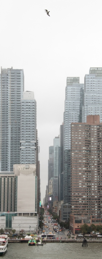 The verticality that is New York, viewed from the Hudson River, midtown New York, New York, USA