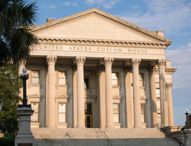 United States Custom House on the waterfront in Charleston, South Carolina, USA