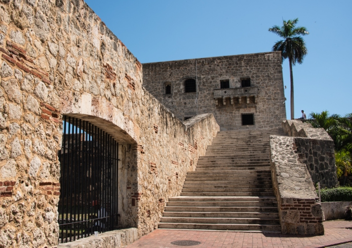 A section of the old city wall, Santo Domingo, Dominican Republic