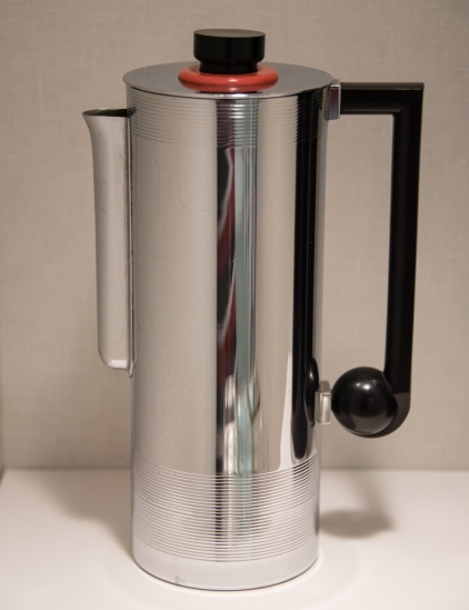 Coffee Pitcher, American Modern, late 1930s, at the Wolfsonian, Miami Beach, Florida, USA