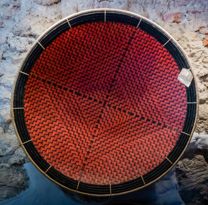 Hand woven basket at Artesanias de Colombia in El Centro (Old City) Cartagena, Colombia