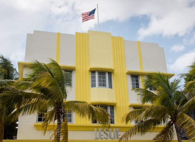 Leslie Hotel (1937), South Beach Art Deco District, Miami Beach, Florida, USA