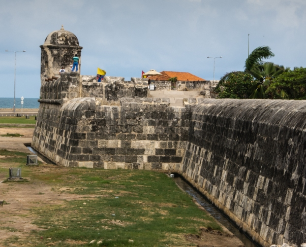Old city walls, Cartagena, Colombia