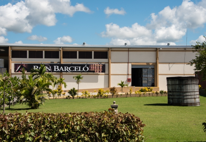 One of several factory buildings at the Ron Barceló factory, Santo Domingo, Dominican Republic